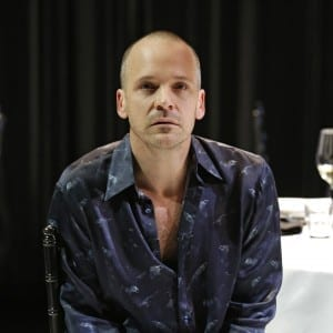 Peter Sarsgaard in the CLASSIC STAGE COMPANY production of HAMLET.  Photo by Carol Rosegg