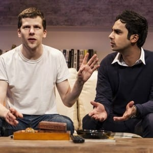 Jesse Eisenberg and Kunal Nayyar, Photo by Monique Carboni.