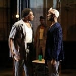 Keith David, John Earl Jelks, and Phillip James Brannon in ToasT at The Public Theater. Photo credit: Carol Rosegg.
