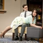 Justin Bartha, Elizabeth Reaser in a scene from MCC Theater's PERMISSION (Photo by Jenny Anderson)