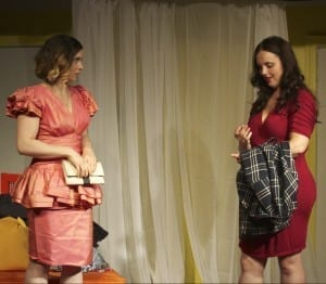 "Carly Forde and Jac Grady in a scene from ""Becky Shaw"""