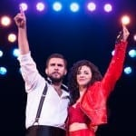 ON YOUR FEET! Josh Segarra and Ana Villafañe as Emilio and Gloria Estefan Photo by Matthew Murphy
