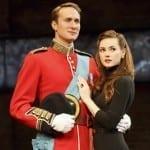 Oliver Chris & Lydia Wilson. (c) Joan Marcus.