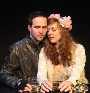 VERONA WALLS -- Ryan McCurdy (Mercutio) and Rachel Flynn (Alyssa). Photo by Gerry Goodstein.
