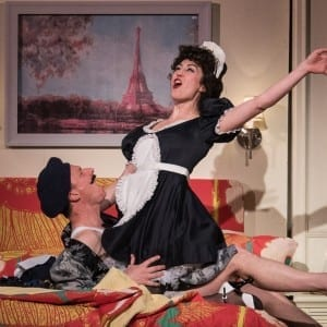 "Brad Heberlee and Kelley Curran in ""The DingDong"" at The Pearl Theatre"