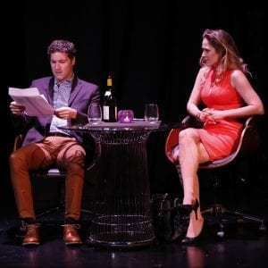 A CLASS ACT at New World Stages; Matthew DeCapua, Jenny Strassburg; Photo by Carol Rosegg