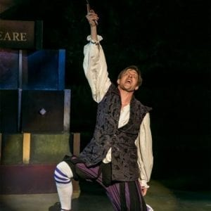 Jon Barker as Hamlet