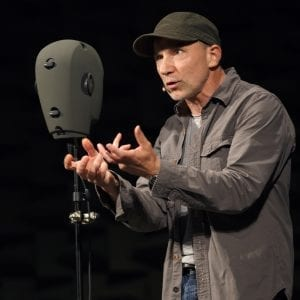 The Encounter; Simon McBurney; Photo by Joan Marcus