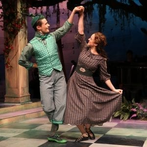 Mark Evans and Melissa Errico in Finain's Rainbow at Irish Repertory Theatre. Photo by Carol Rosegg.