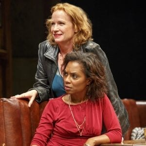 Johanna Day and Michelle Wilson in Sweat; Photo credit: Joan Marcus