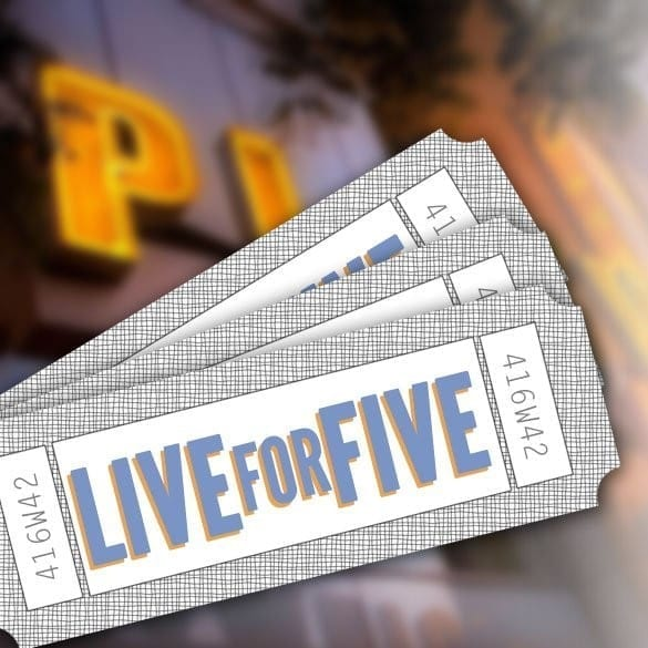 "Playwrights Horizons Now Accepting ""Liveforfive"" Lottery Entries"