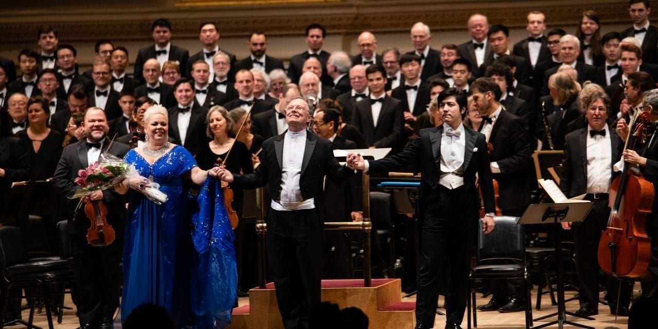 THE ORATORIO SOCIETY OF NEW YORK AT CARNEGIE HALL
