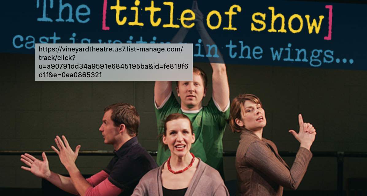 VINEYARD THEATRE [title of show] is reuniting – with your help!