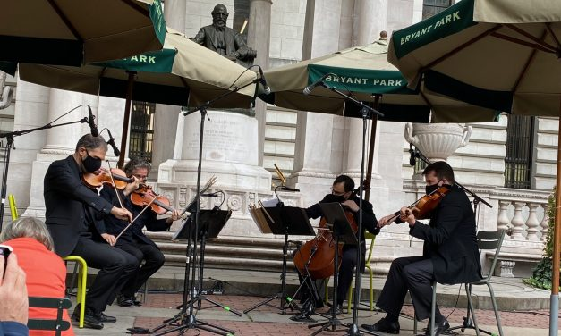 The American Symphony Orchestra String Quartet at Bryant Park – Sept 2020