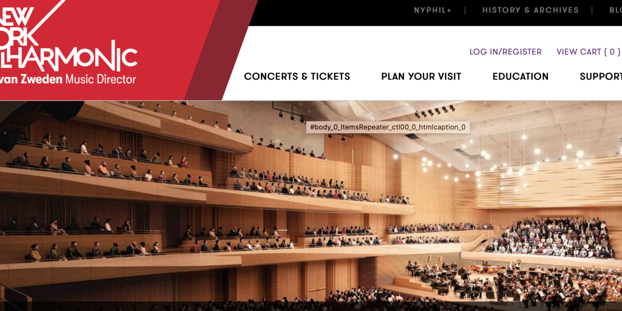 New York Philharmonic Offerings